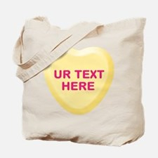 Banana Candy Heart Personalized Tote Bag