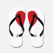 Josephine Big Heart Flip Flops