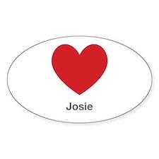 Josie Big Heart Decal