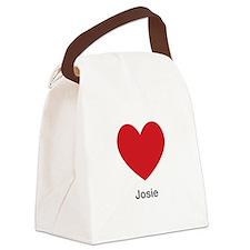 Josie Big Heart Canvas Lunch Bag