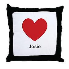 Josie Big Heart Throw Pillow