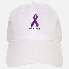 Personalized Purple Ribbon Baseball Baseball Cap