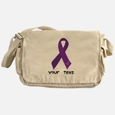 Personalized Purple Ribbon Messenger Bag