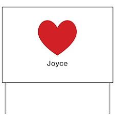 Joyce Big Heart Yard Sign