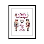 Happy Holidays Nutcracker Framed Panel Print