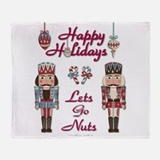 Happy Holidays Nutcracker Throw Blanket