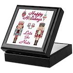 Happy Holidays Nutcracker Keepsake Box
