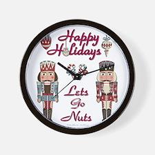 Happy Holidays Nutcracker Wall Clock