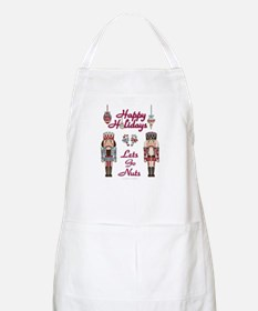 Happy Holidays Nutcracker Apron