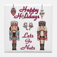 Happy Holidays Nutcracker Tile Coaster
