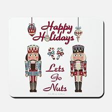 Happy Holidays Nutcracker Mousepad