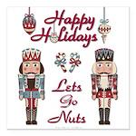 Happy Holidays Nutcracker Square Car Magnet 3