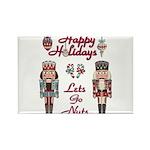 Happy Holidays Nutcracker Rectangle Magnet