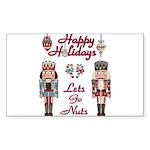 Happy Holidays Nutcracker Sticker