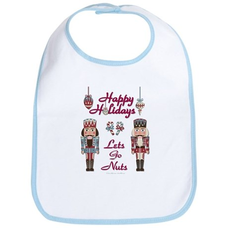 Happy Holidays Nutcracker Bib