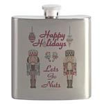 Happy Holidays Nutcracker Flask