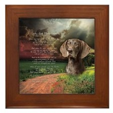 Cute German shorthair Framed Tile