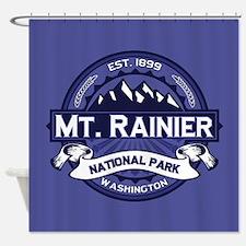 Mt Rainier Midnight Logo Shower Curtain