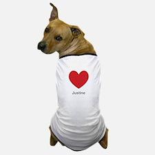Justine Big Heart Dog T-Shirt