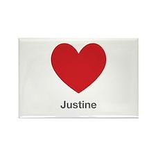 Justine Big Heart Rectangle Magnet