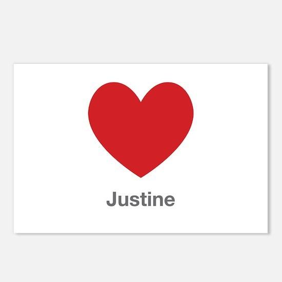 Justine Big Heart Postcards (Package of 8)