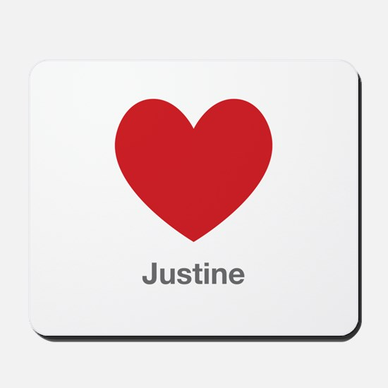 Justine Big Heart Mousepad