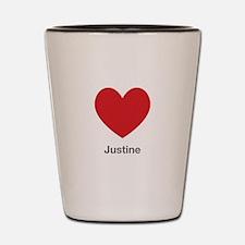 Justine Big Heart Shot Glass