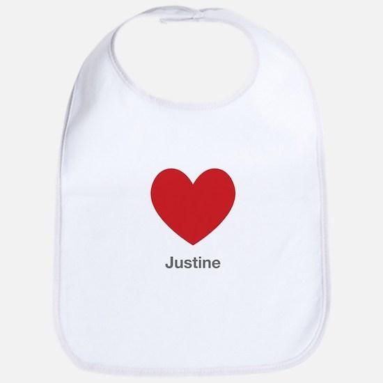 Justine Big Heart Bib