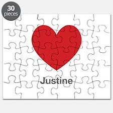 Justine Big Heart Puzzle