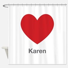 Karen Big Heart Shower Curtain