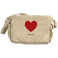 Karla Big Heart Messenger Bag