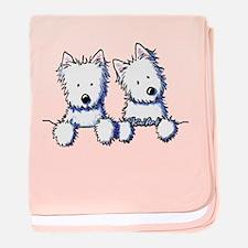 Pocket Westie Duo baby blanket