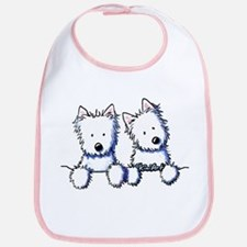 Pocket Westie Duo Bib
