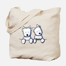 Pocket Westie Duo Tote Bag