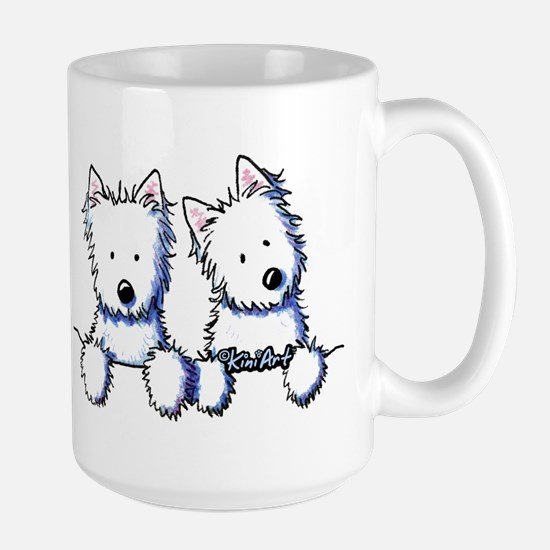 Pocket Westie Duo Large Mug