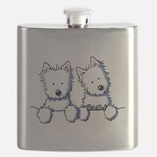 Pocket Westie Duo Flask