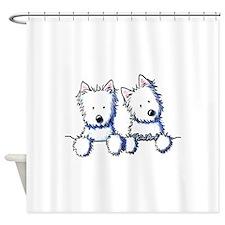 Pocket Westie Duo Shower Curtain