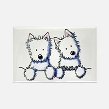 Pocket Westie Duo Rectangle Magnet (100 pack)