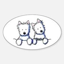 Pocket Westie Duo Decal