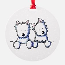 Pocket Westie Duo Ornament