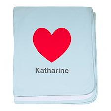 Katharine Big Heart baby blanket