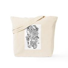 Albino Tiger Tattoo Tote Bag