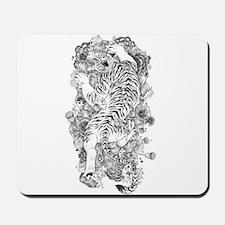 Albino Tiger Tattoo Mousepad