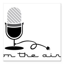 """On The Air Square Car Magnet 3"""" x 3"""""""