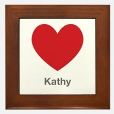Kathy Big Heart Framed Tile