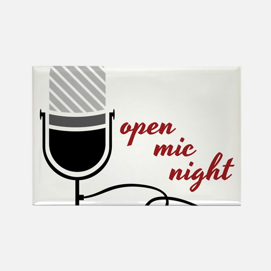 Open Mic Night Rectangle Magnet