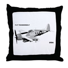 P-47 THUNDERBOLT Throw Pillow