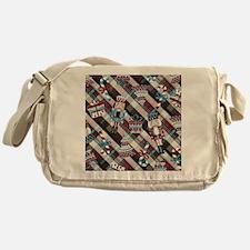 Happy Holidays Nutcracker Plaid Messenger Bag