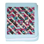 Happy Holidays Nutcracker Plaid baby blanket