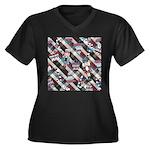 Happy Holidays Nutcracker Plaid Plus Size T-Shirt